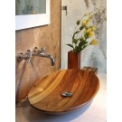 Lavabo  ovale in Teak massello